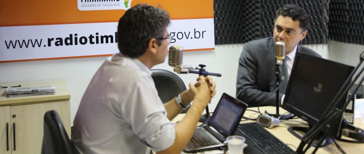 Novo Delegado-Geral da Policia Civil Lawrence Melo concede entrevista á Rádio Timbira