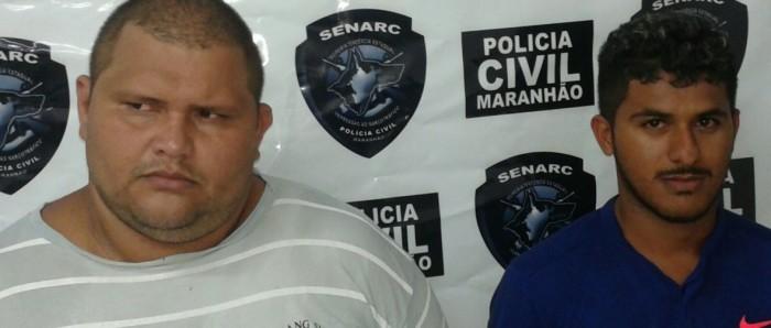 Dois suspeitos por tráfico de drogas são presos pela Polícia Civil em São Luís