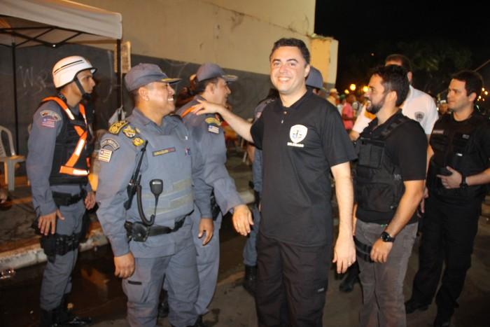 Cúpula da Polícia Civil vistoria circuito de carnaval
