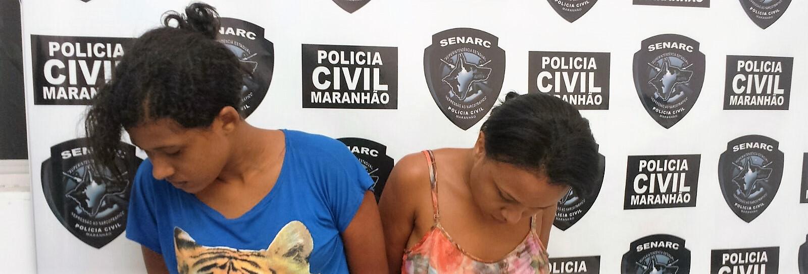 Polícia Civil prende duas mulheres suspeitas por tráfico de drogas em Santa Inês