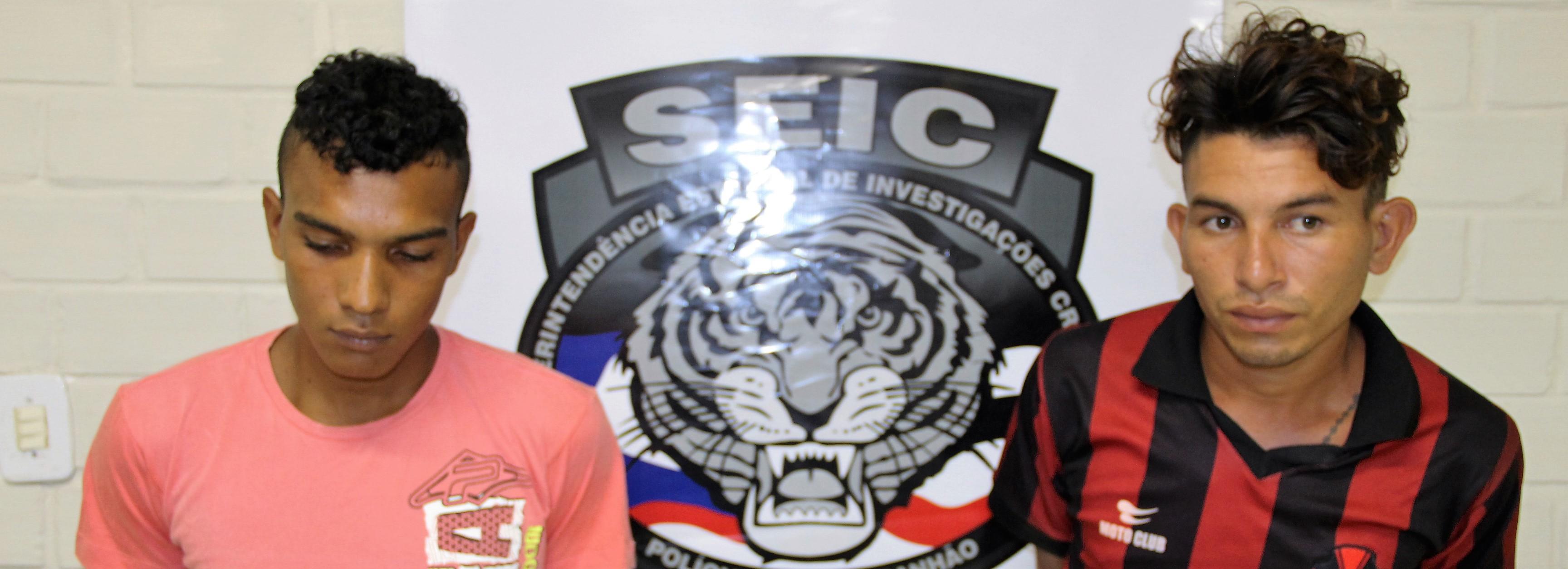 Polícia Civil apresenta suspeitos em explosão de caixas eletrônicos em Cajapió