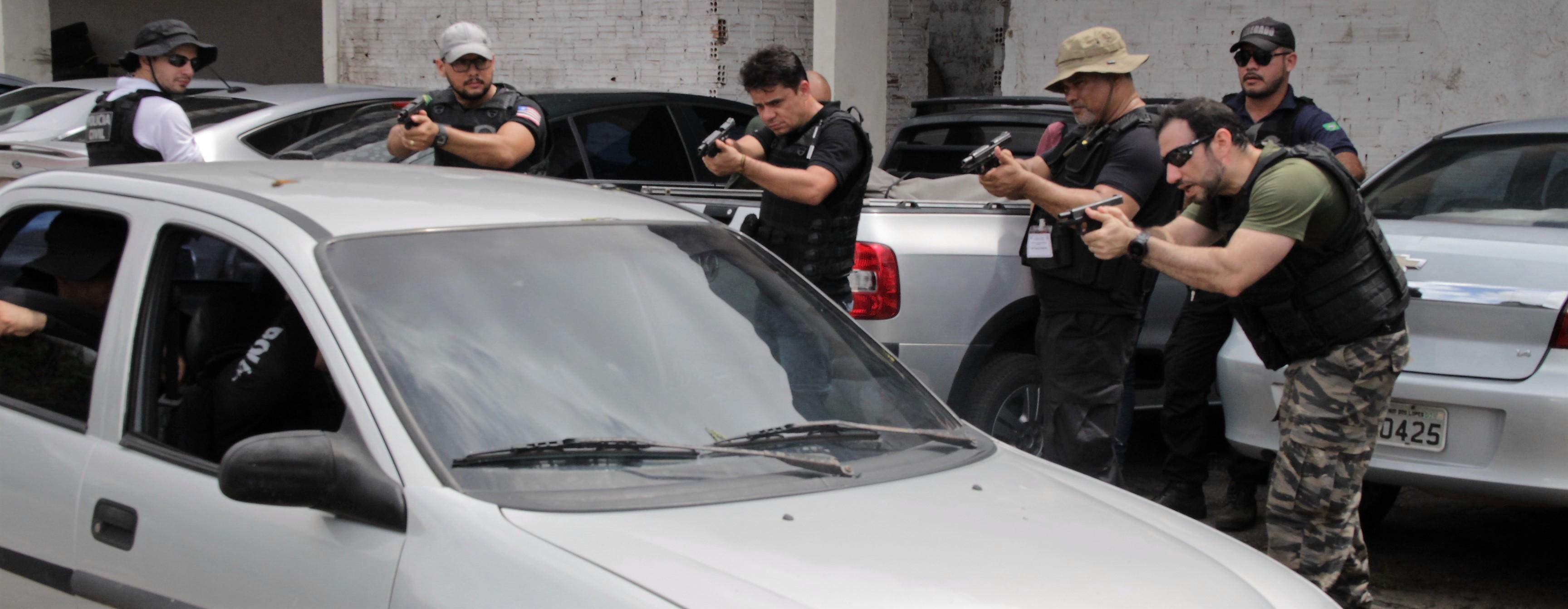 """Delegados e Investigadores iniciam curso de """"Praticas de Operações Policiais"""" em São Luís"""