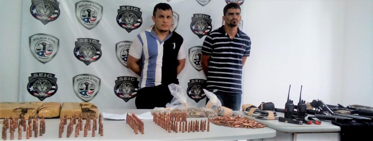 Polícia Civil prende membros de quadrilha interestadual e apreende 03 fuzis, pistolas, 10 kg de maconha e 850 munições
