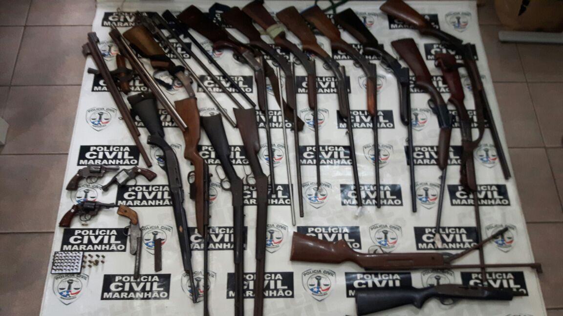 Operação em Barra do Corda apreende diversas armas de fogo