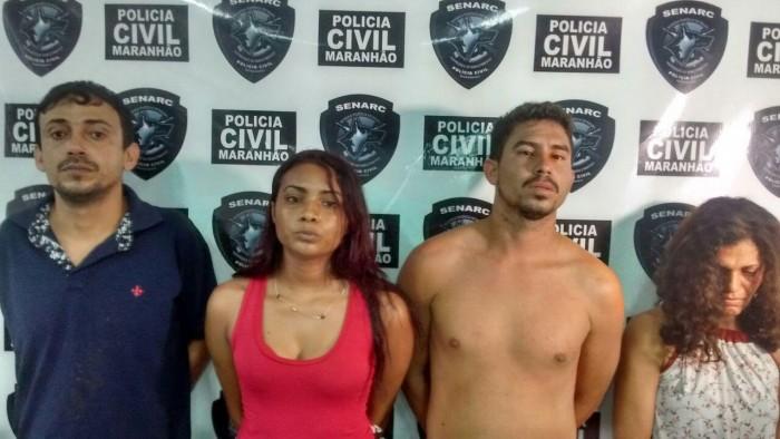 Policia Civil prende quatro suspeitos de tráfico de drogas na Maiobinha e cumpre mandado de prisão no Cohafuma