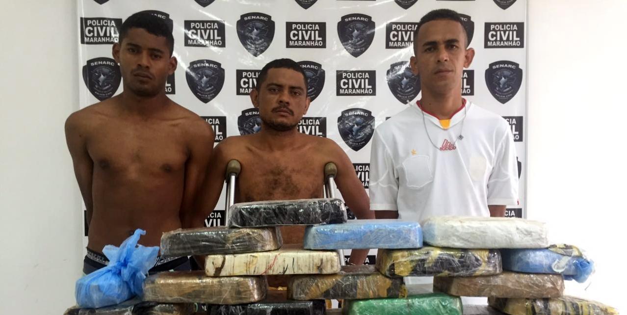 Polícia Civil prende 3 traficantes e apreende droga avaliada em R$ 700 mil em São Luís