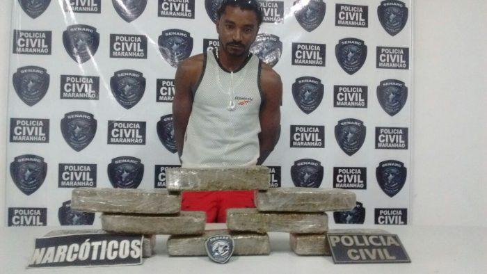 Policia Civil apreende 10kg de entorpecente em Santa Inês