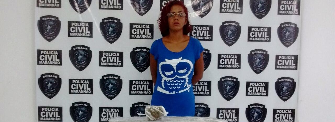 Mulher é presa pela Polícia Civil com cerca de 6kg de maconha em São Luís