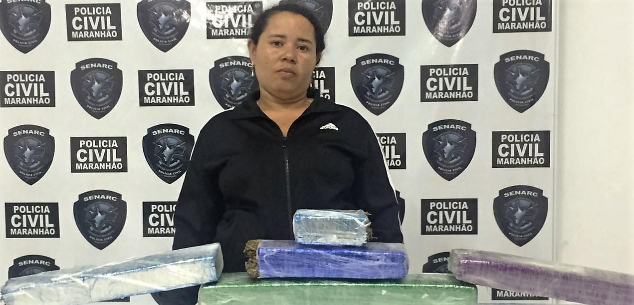 Polícia Civil do Maranhão apreende 12kg de entorpecente no interior e várias trouxas de maconha na capital