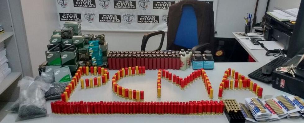 Polícia Civil apreende 1.520 munições no município de Balsas