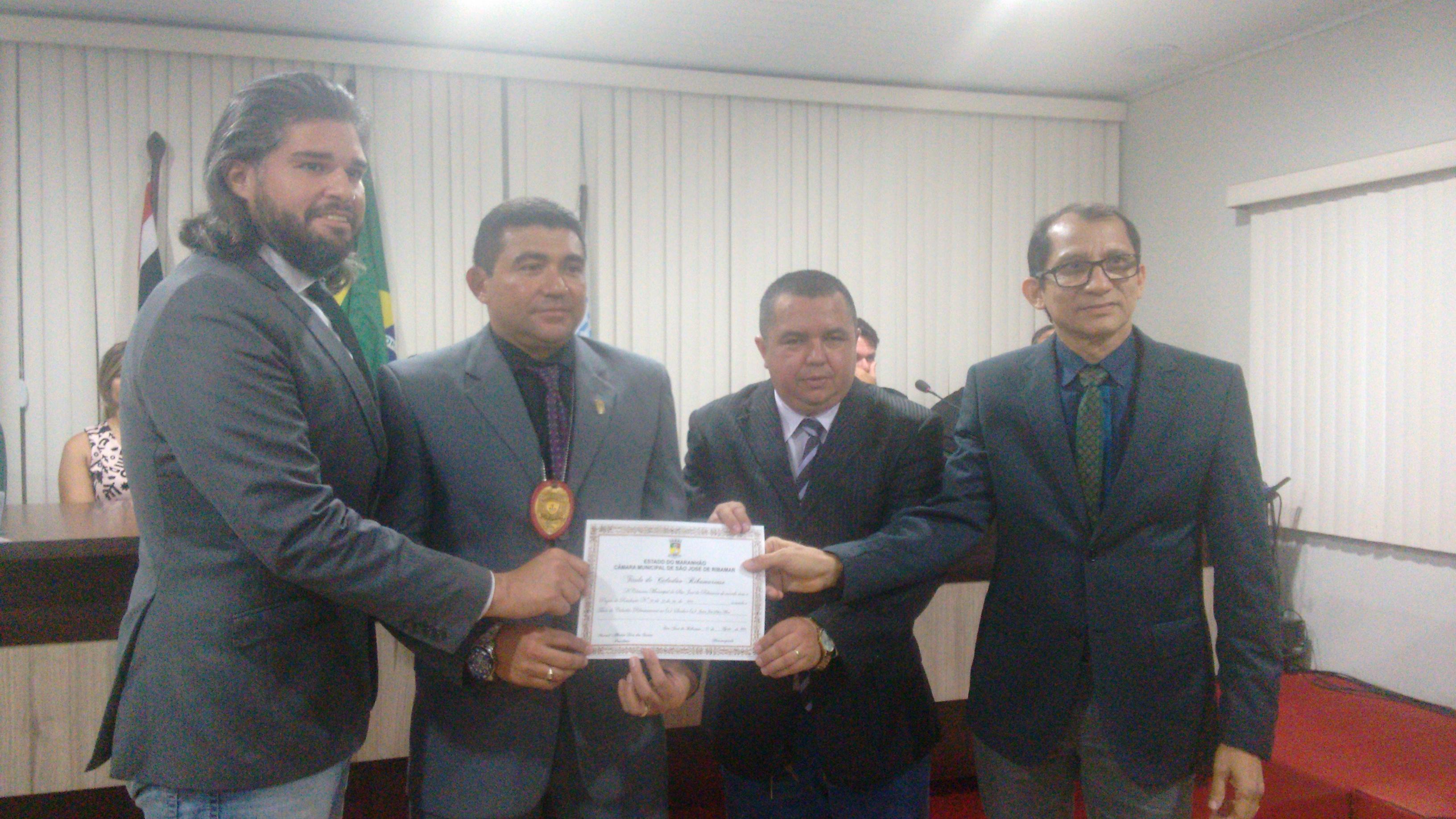 Delegado de Polícia Civil, Jader Alves recebe Título de Cidadão Ribamarense da Câmara Municipal de São José de Ribamar