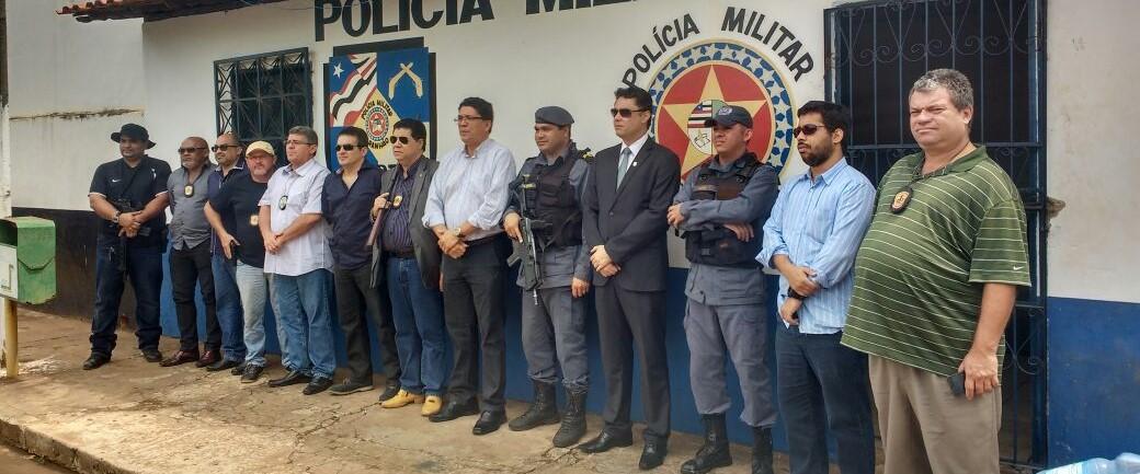 Secretário de Segurança visita o município de Gov. Eugenio Barros e Senador Alexandre Costa e anuncia a inclusão de 1550 policiais e novo concurso público