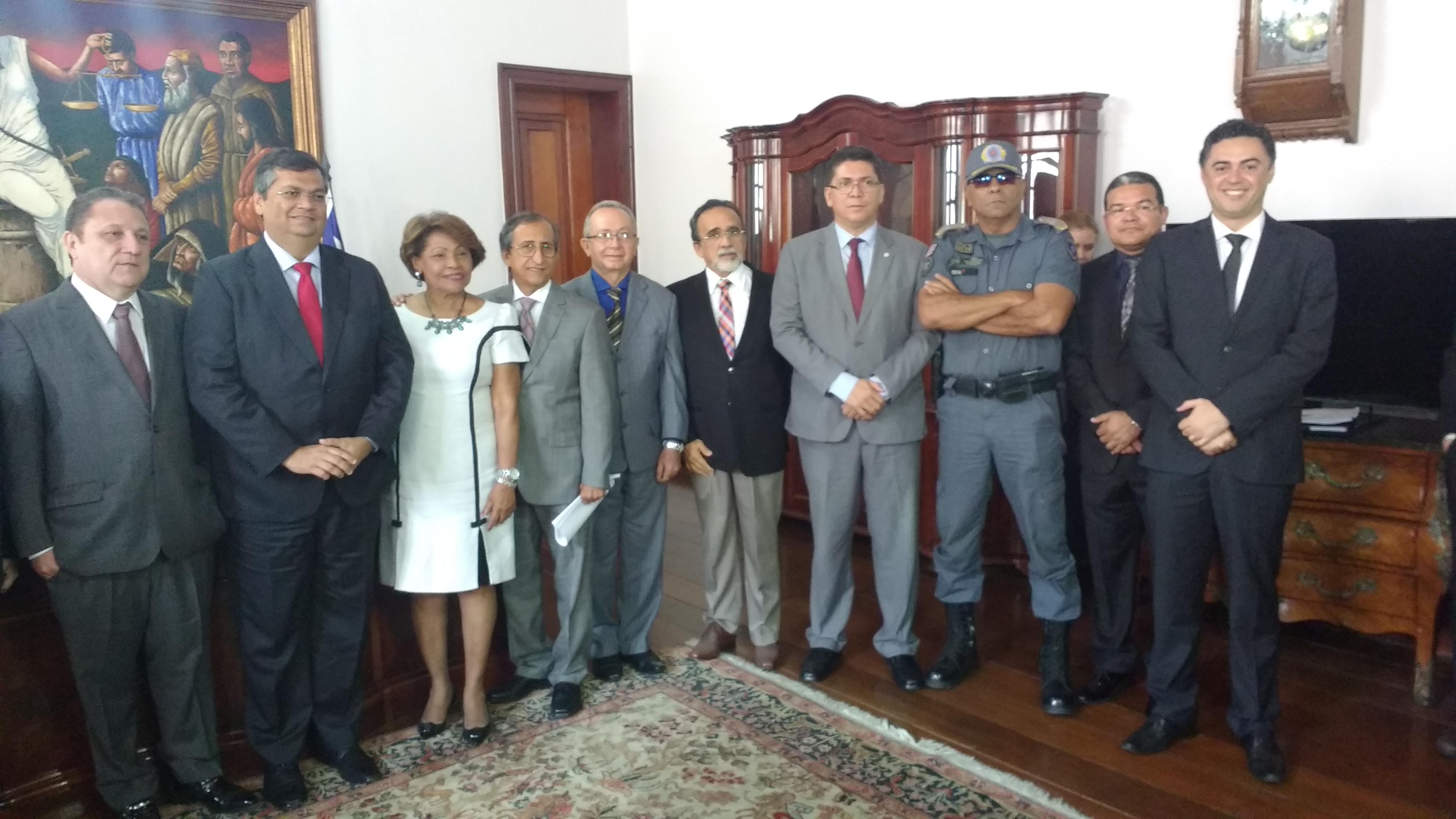 O Governador, a cúpula da segurança e o poder judiciário reúnem-se em observância aos avanços na segurança pública