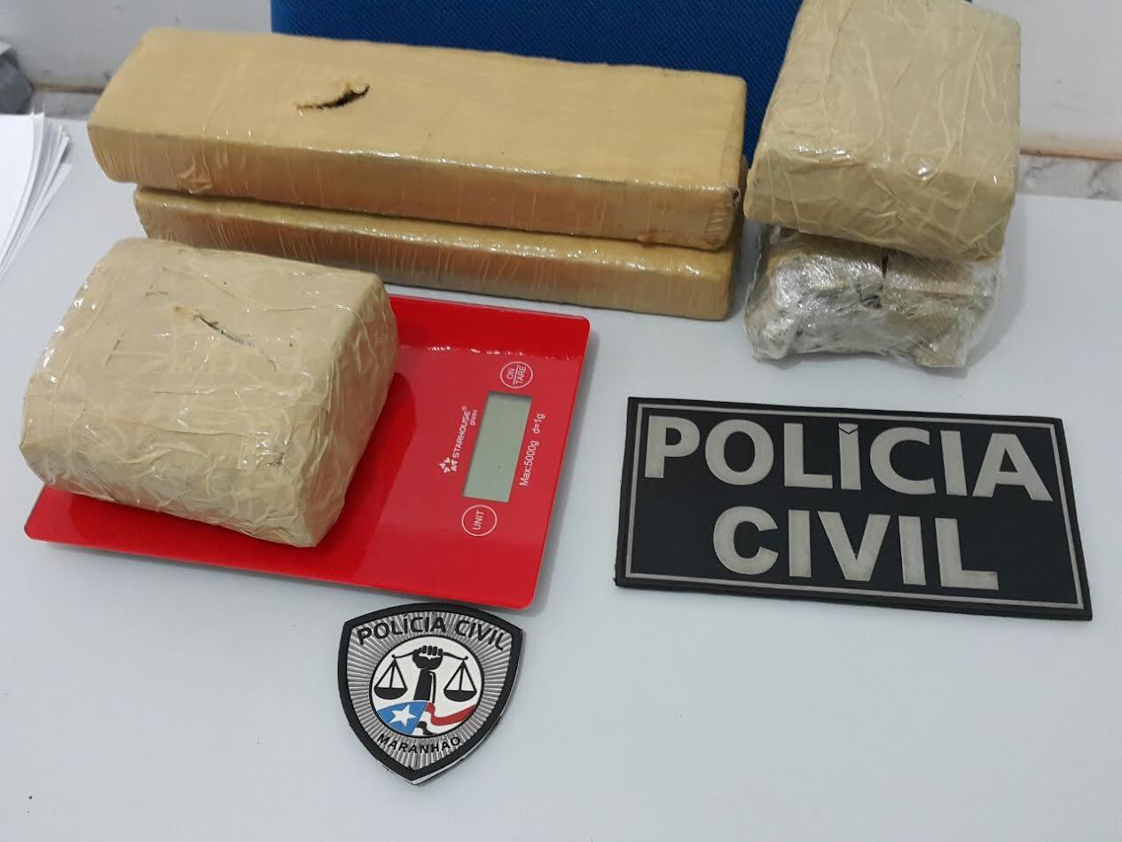 Polícia Civil estoura depósito de drogas em Pedreiras