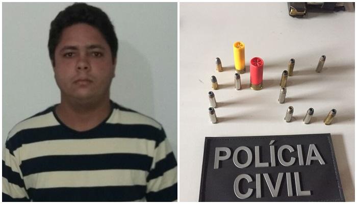 Polícia Civil apreende munição em Santo Antônio dos Lopes