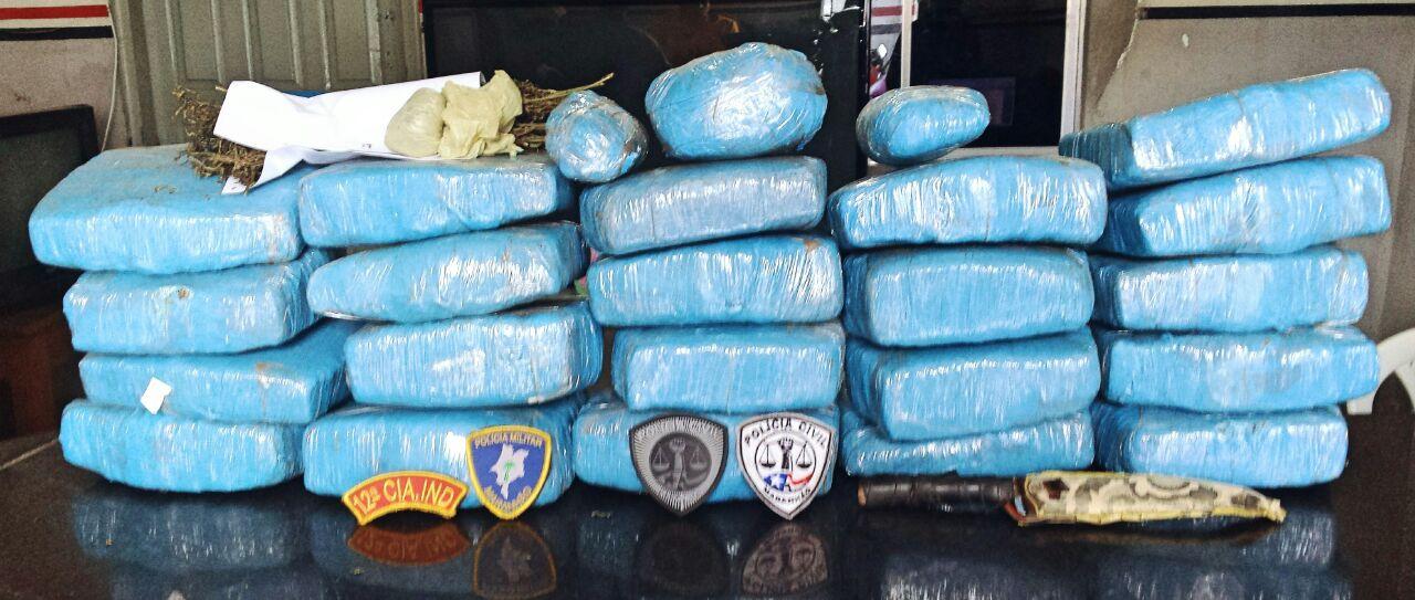 Polícia Civil de Santa Luzia do Paruá e a Polícia Militar prendem traficante com 22kg de maconha
