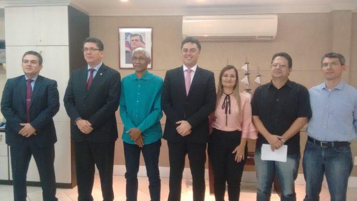 Sistema de Segurança recebe visita de prefeito eleito de Paço do Lumiar, Domingos Dutra