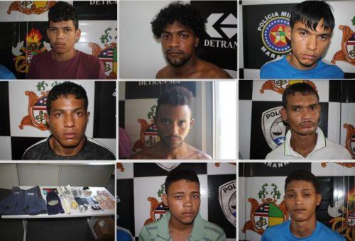 SSP apresenta em coletiva 8 suspeitos de ações criminosas no Coroadinho