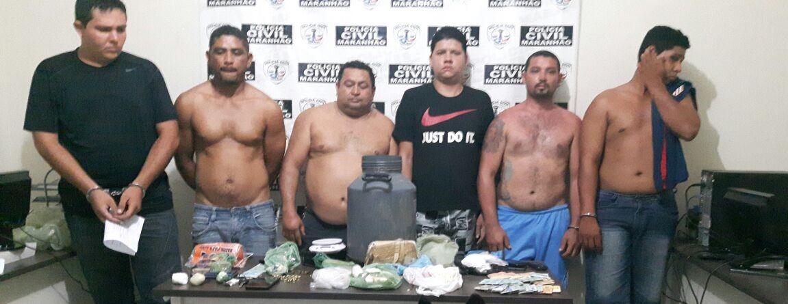 Quadrilha é presa em Barra do Corda por envolvimento com o tráfico de entorpecentes na região