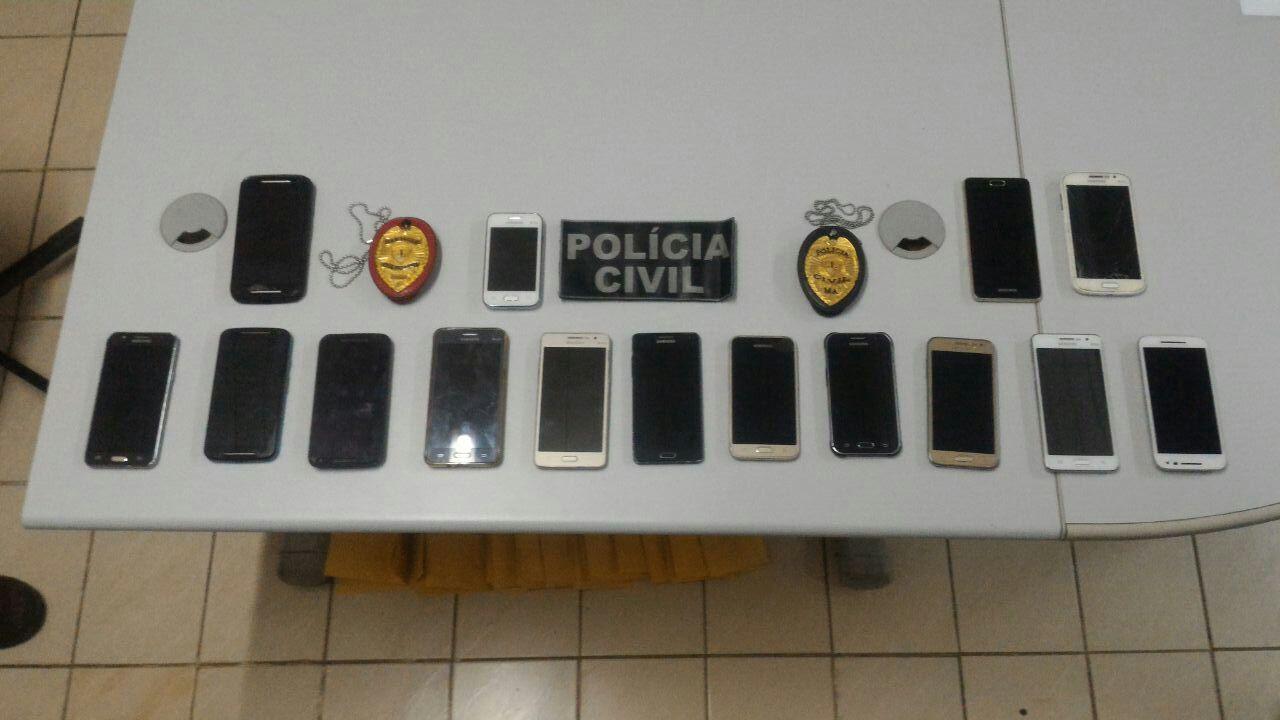 Polícia Civil prende receptadores de aparelhos celulares em Imperatriz.