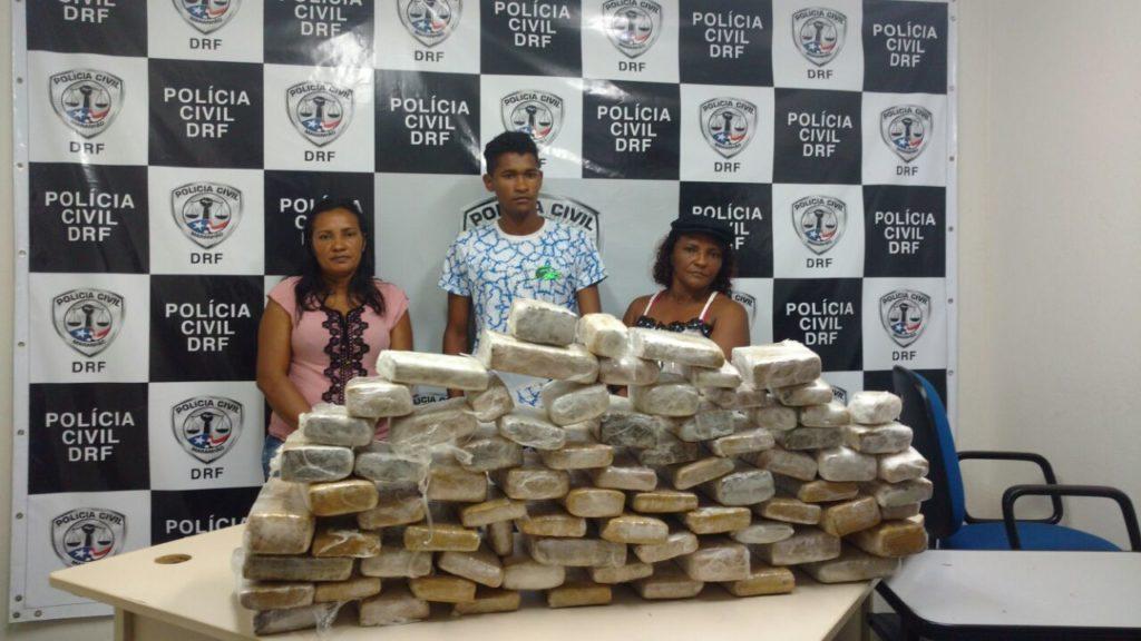 Polícia Civil apreende 100 tabletes de entorpecentes em São Luís