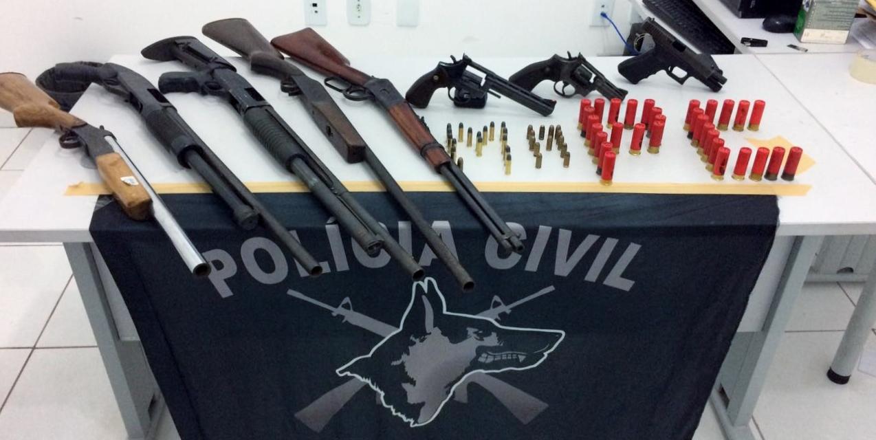 Arsenal de arma de fogo é apreendido pela Polícia Civil na Capital