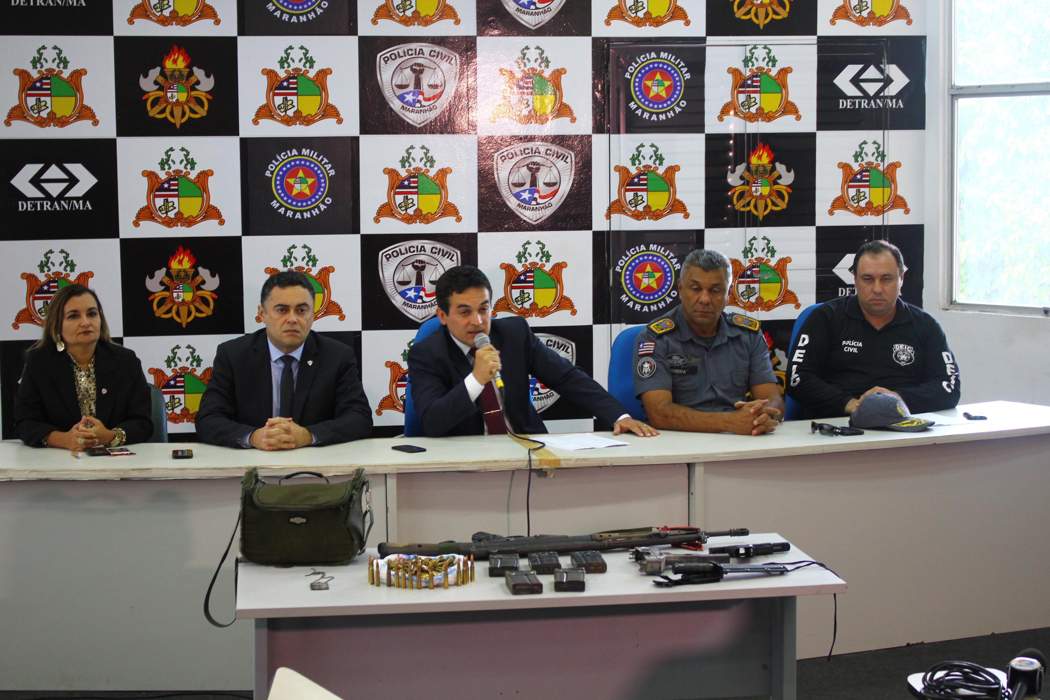 SSP apresenta dois suspeitos da tentativa de assalto à transportadora de valores em Bacabal