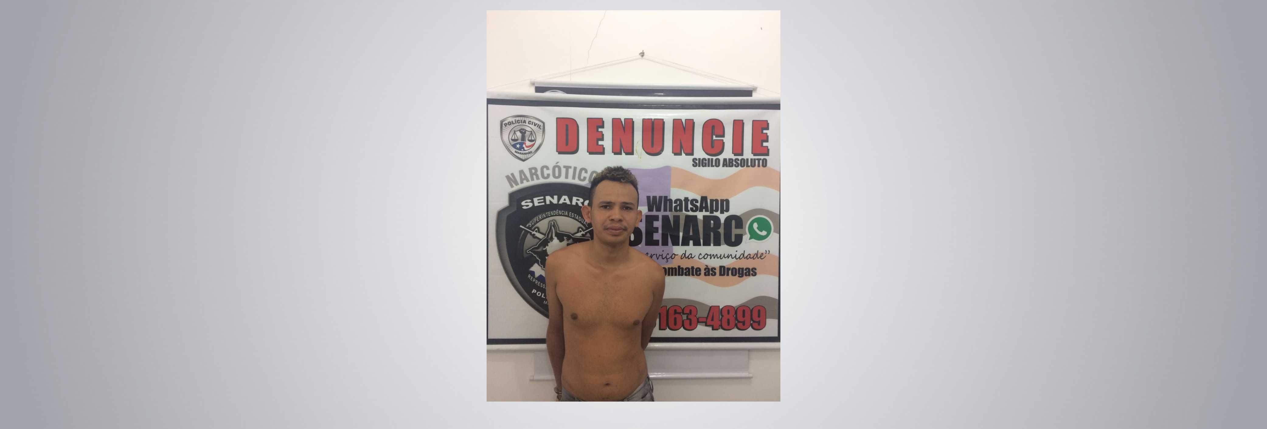 Polícia Civil cumpre mandado de prisão preventiva por tráfico em São Luís