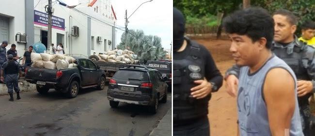 Operação conjunta das polícias Civil e Militar apreende a maior quantidade de maconha no interior do estado e prende integrantes da quadrilha de traficantes