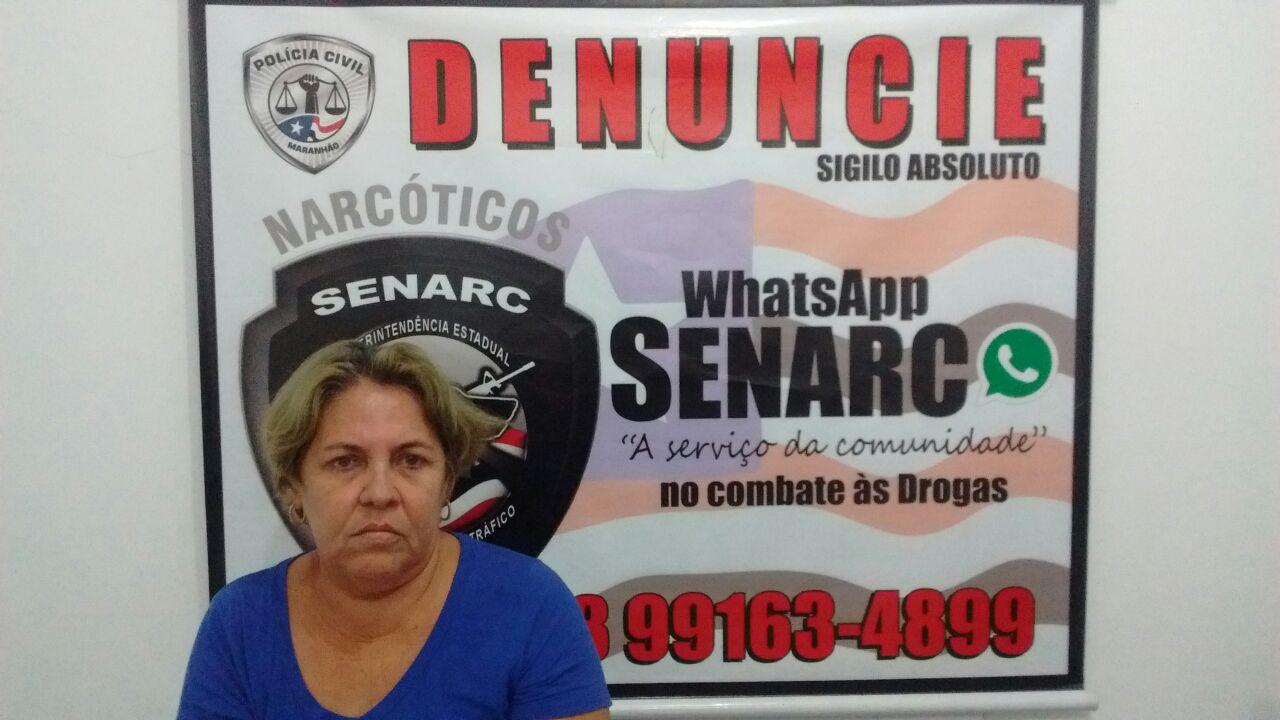 Polícia Civil prende mulher suspeita de tráfico de drogas na região central de São Luís