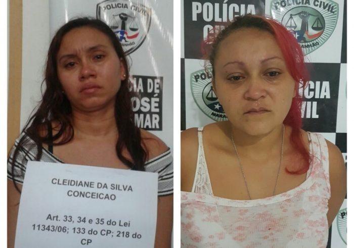 Polícia Civil prende duas mulheres suspeitas de tráfico de drogas no Maranhão