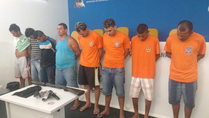 10 homens são presos pelas polícias Civil e Militar por tentativa de ataque a agências bancárias