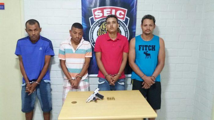 Operação realizada pela Polícia Civil prende 4 suspeitos de assaltos na capital