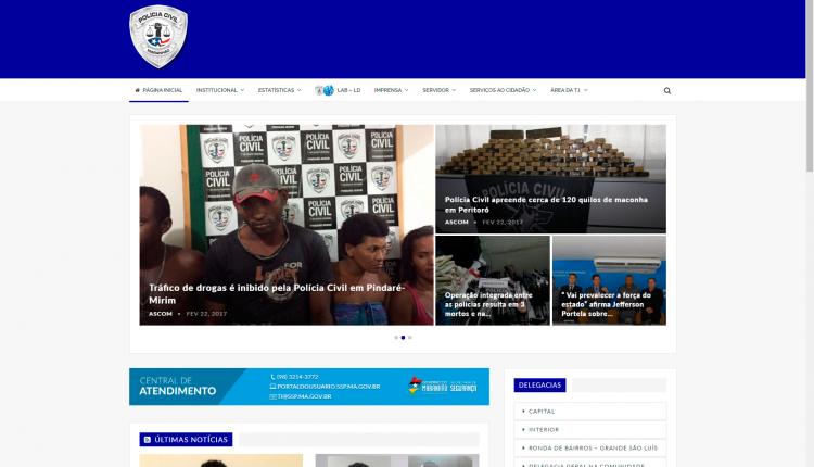 Polícia Civil do Maranhão lança nova versão do seu site institucional