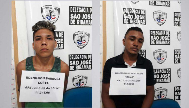 DOIS HOMENS SÃO PRESOS PELA POLÍCIA CIVIL POR TRÁFICO DE DROGAS EM SÃO JOSÉ DE RIBAMAR