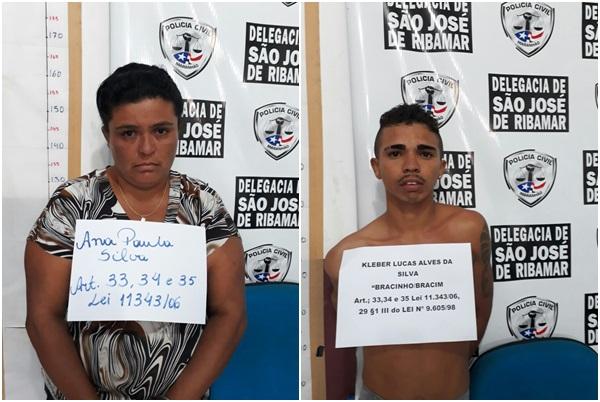 MÃE E FILHO SÃO PRESOS POR ASSOCIAÇÃO AO TRÁFICO DE DROGAS EM SÃO JOSÉ DE RIBAMAR