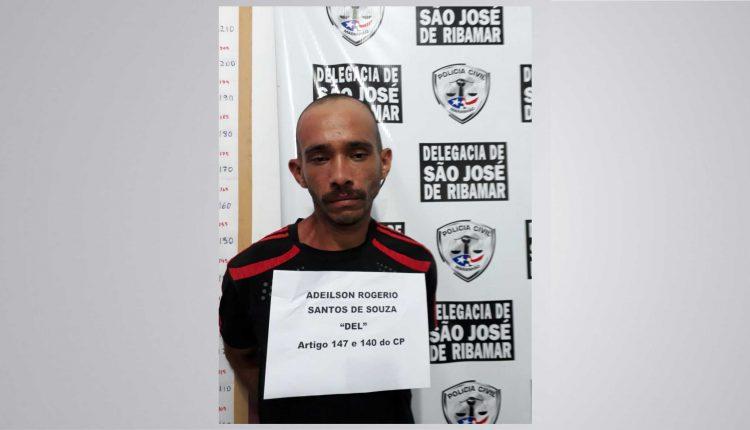 POLÍCIA CIVIL PRENDE HOMEM POR AGRESSÃO EM SÃO JOSÉ DE RIBAMAR