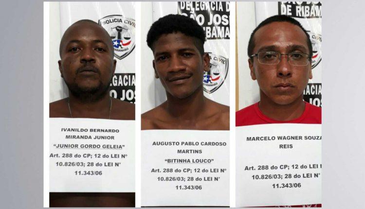 TRÊS HOMENS SÃO PRESOS PELA POLÍCIA CIVIL POR CRIMES HOMICÍDIOS E ASSOCIAÇÃO CRIMINOSA EM SÃO JOSÉ DE RIBAMAR