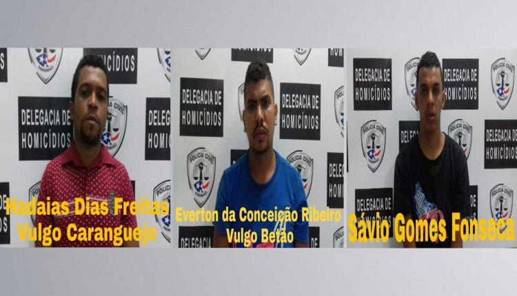 Polícia Civil prende três homens acusados de roubo, homicídio e latrocínio em São Luís