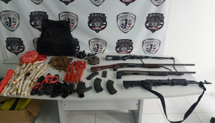 Ação conjunta entre as policias Civil e Militar desmonta quadrilha interestadual de roubo a banco em Santa Luzia do Tide