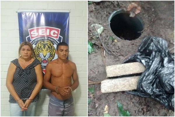 Polícia Civil prende dupla que armazenava entorpecentes em um túnel no município de São José de Ribamar.