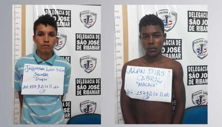 POLÍCIA CIVIL PRENDE DUPLA ENVOLVIDA EM ARRASTÃO SEGUIDO DE ROUBO EM SÃO JOSÉ DE RIBAMAR