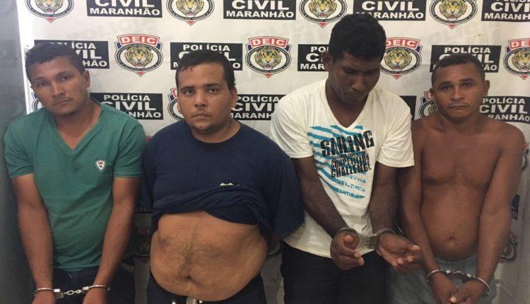 Polícia Civil prende 04 acusados de envolvimento em ataque em Agência bancária e carro forte