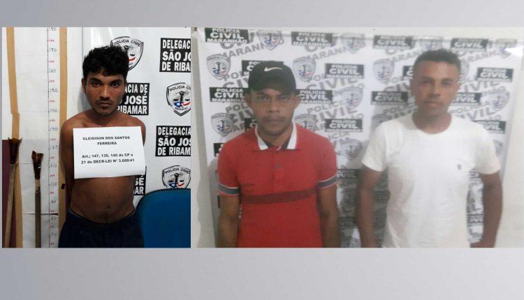Polícia Civil prende três homens por crimes contra a mulher em cidades do Maranhão