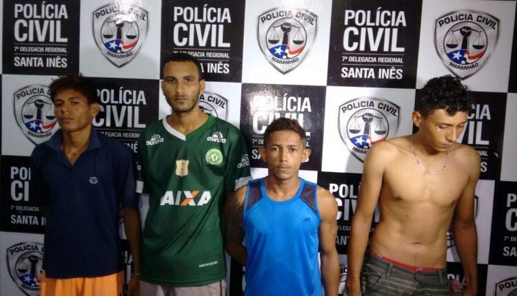 Homicidas são presos pela Polícia Civil na cidade de Santa Inês