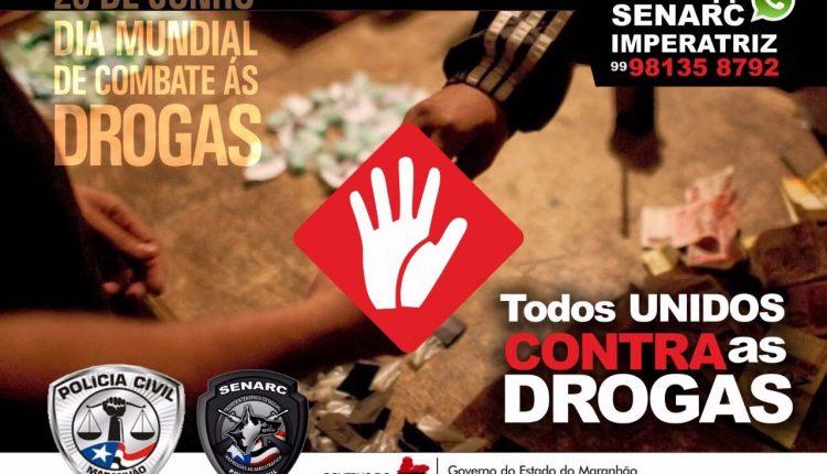 Polícia Civil realiza campanha educativa em prol do DIA Mundial de Combate às Drogas