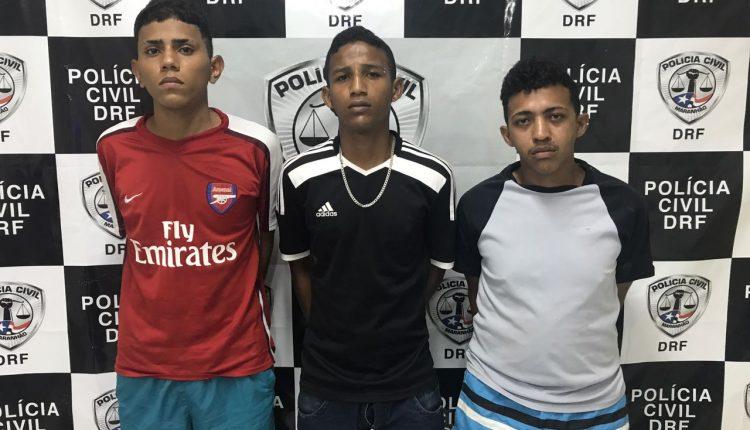 Trio de assaltantes de residências na região do Araçagy é preso pela Polícia Civil