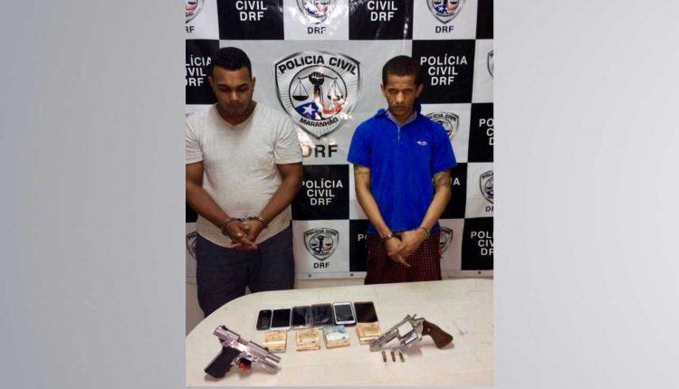 Polícia Civil prende dois suspeitos por assalto a um posto de combustível na capital