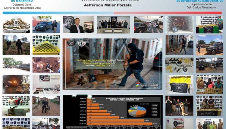POLÍCIA CIVIL: SENARC FICA EM PRIMEIRO LUGAR EM APREENSÃO DE DROGAS NA REGIÃO NORDESTE