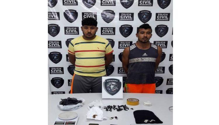 POLÍCIA CIVIL DETÉM DOIS HOMENS SUSPEITOS POR TRÁFICO DE DROGAS NA ZONA RURAL DE SÃO LUÍS